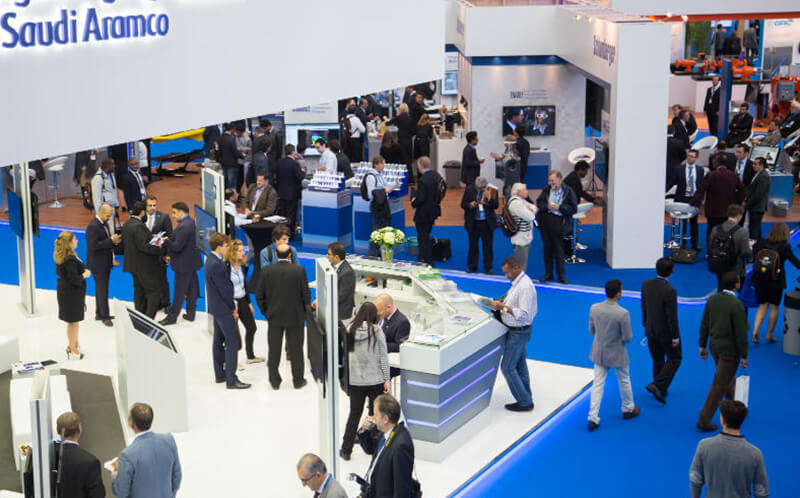 photo from exhibition floor at 2015 ATCE