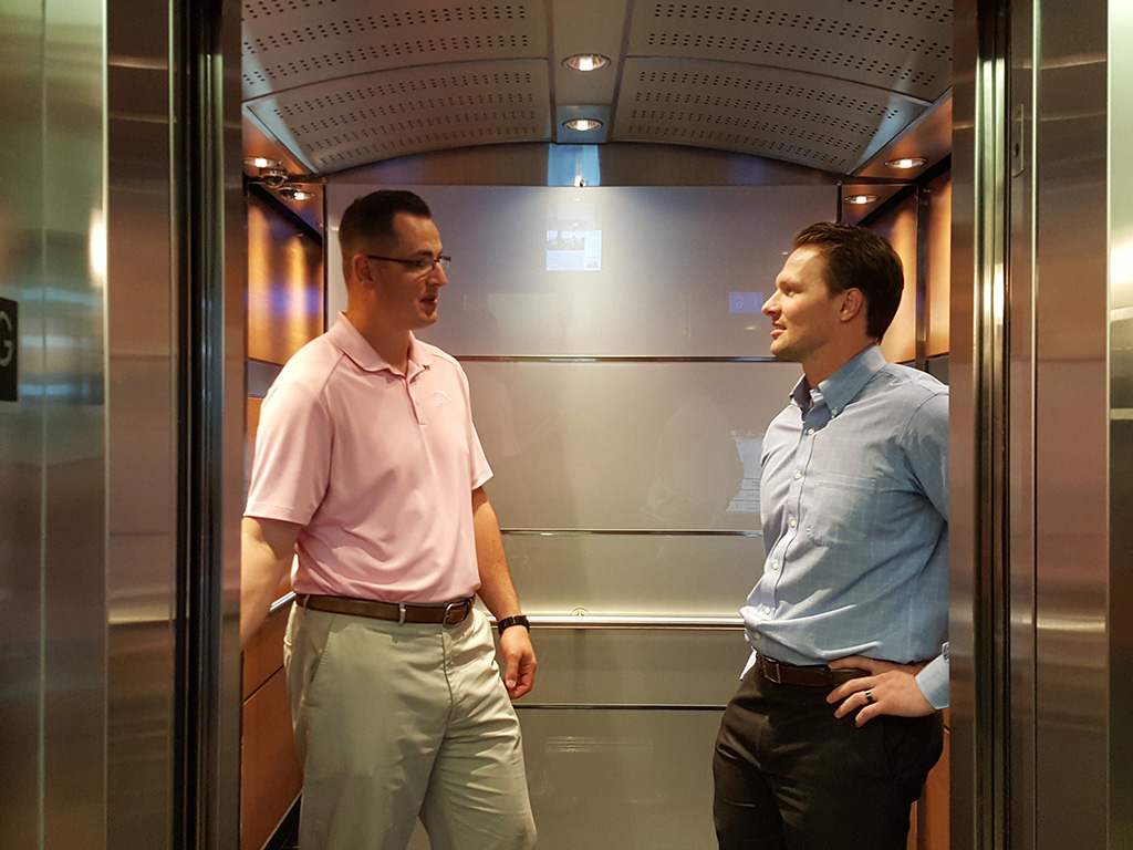 twa article how to have an effective elevator conversation