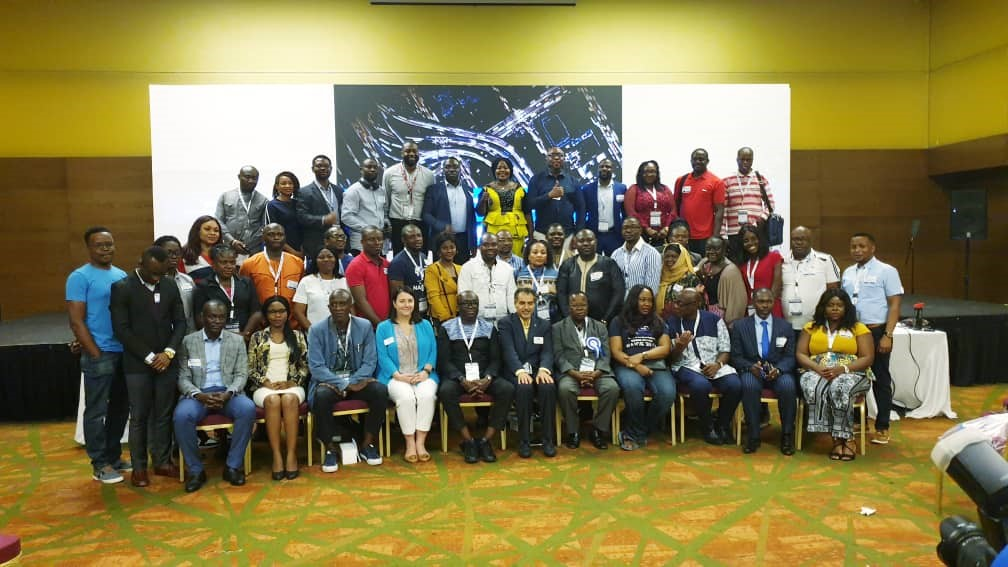Cross section of attendees at the Africa Regional Section Officers Meeting 2019.