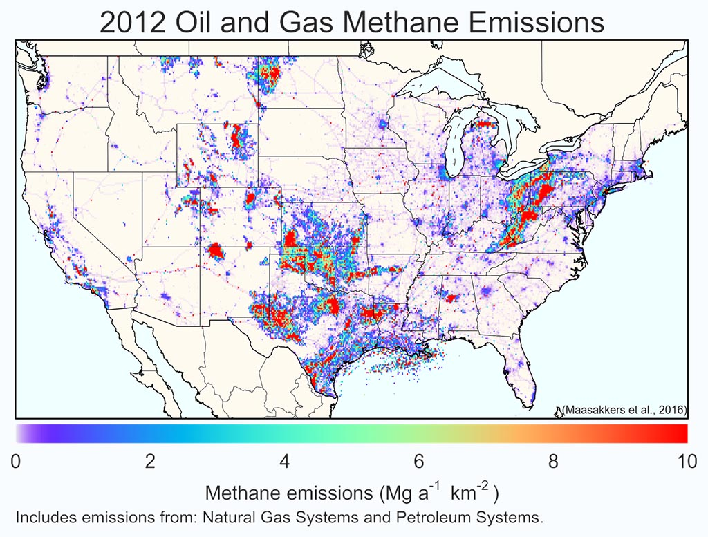 OGF Article Whos Minding The Methane Federal Emissions Rules In - Us greenhouse gas emissions map