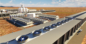 Rendering of world's largest direct-air-capture-plant in the Permian Basin