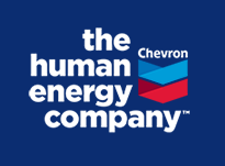Chevron logo and slogan-the human energy company