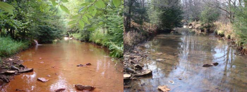 Images of the Susquehanna River before and after environmental cleanup