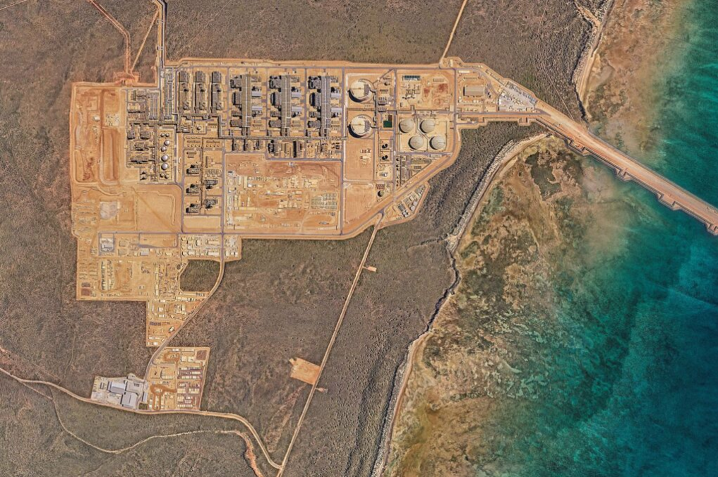 Gorgon LNG facility, courtesy of Chevron
