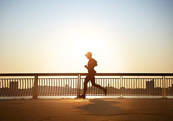 Man enjoying early morning run